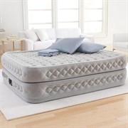 Надувная кровать Intex 66962 двуспальная со встр. насосом 220В  (152х203х51)