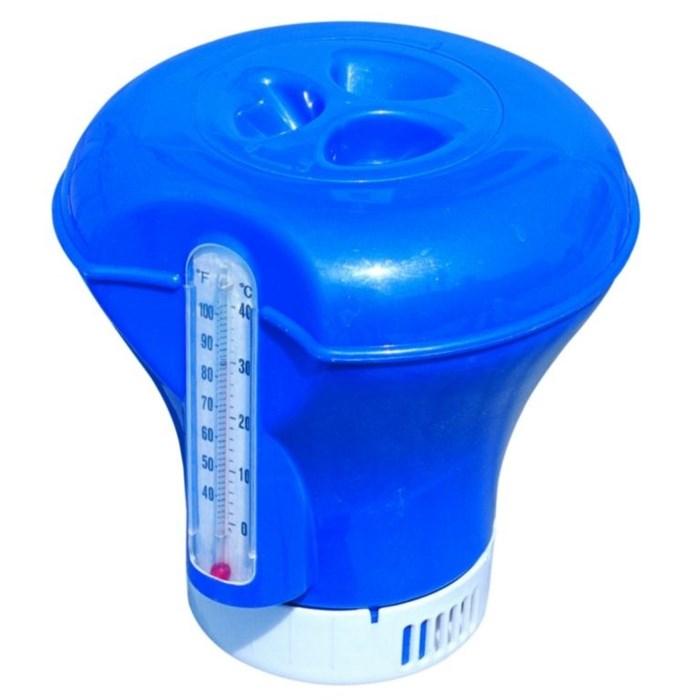 Дозатор-поплавок с термометром для бассейна (18,5см) 58209 - фото 10155