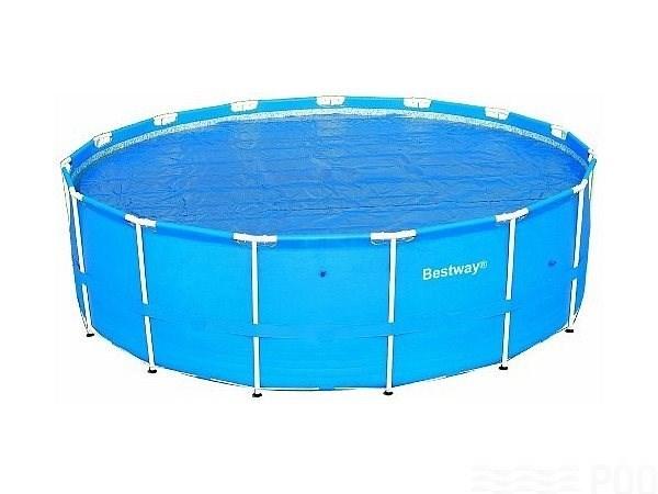 Тент солнечный прозрачный для круглого бассейна 457см BestWay 58065 - фото 10169