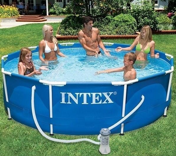 Каркасный бассейн Intex 56999/28202 + фильтр-насос (305х76см) - фото 10204
