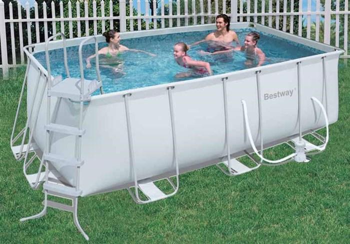 Каркасный бассейн Bestway 56241/56456 + фильтр-насос, лестница  (412х201х122см) - фото 10523