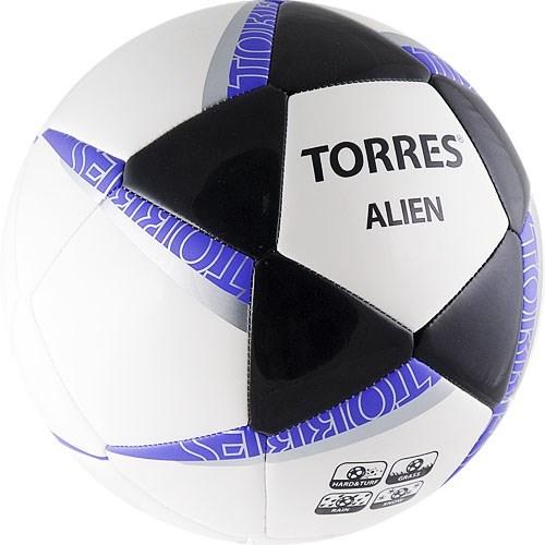 Мяч футбольный TORRES Alien White р.5 - фото 10623