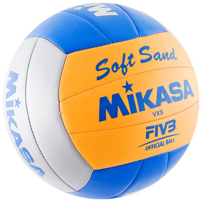 Мяч в/б MIKASA VXS-02 Soft Sand пляжный р.5, синт. кожа - фото 10632