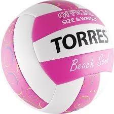 Мяч для пляжного волейбола TORRES Beach Sand Pink - фото 10634