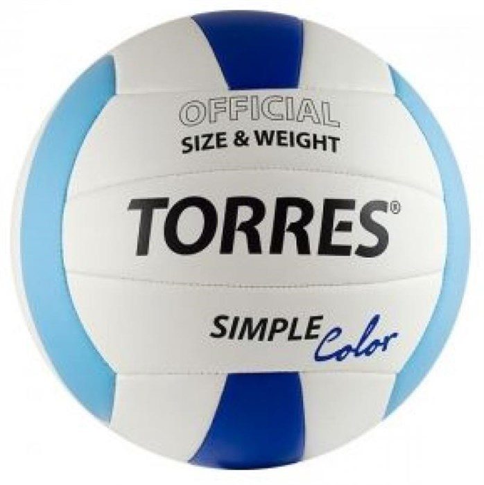 Мяч волейбольный любительский TORRES Simple Color - фото 10638