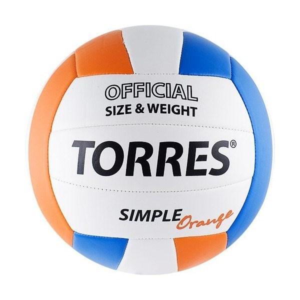 Мяч волейбольный любительский TORRES Simple Orange - фото 10643