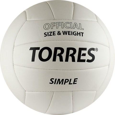 Мяч волейбольный любительский TORRES Simple - фото 10644