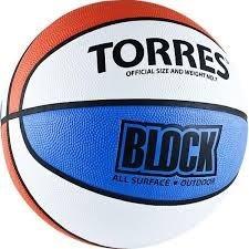 Мяч баскетбольный TORRES Block р.7 - фото 10668