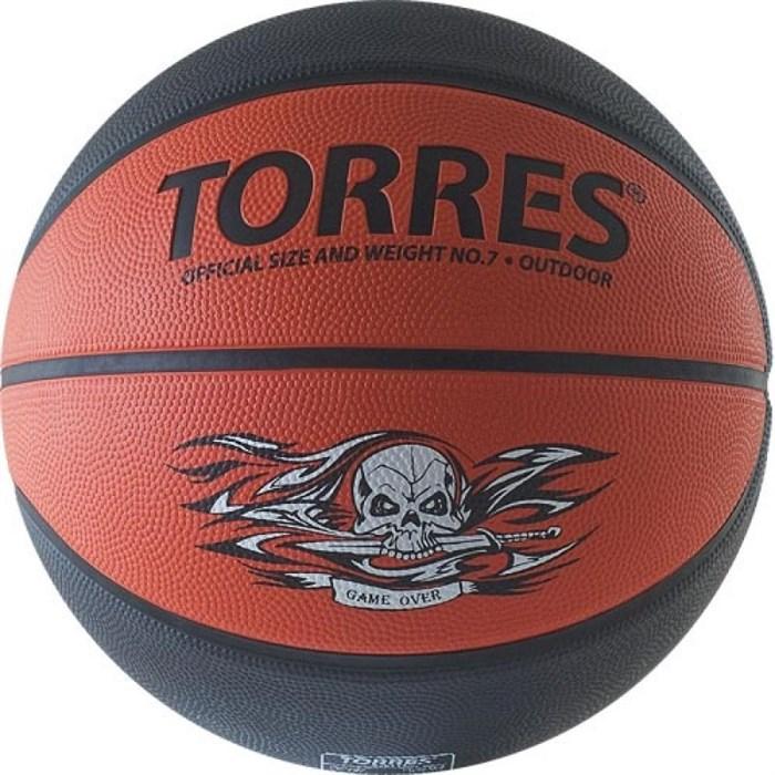 Мяч баскетбольный TORRES Game Over р.7 - фото 10670