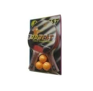 Набор для н/т DOBEST BR06 0 звезд (2 ракетки + 3 мяча) - фото 10746