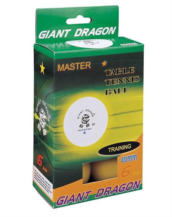 Мячи для настольного тенниса GIANT DRAGON 6 шт желтые - фото 10793