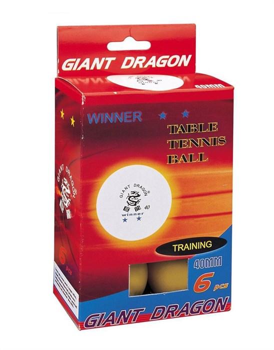 Мячи для настольного тенниса GIANT DRAGON-6 шт желтые - фото 10795