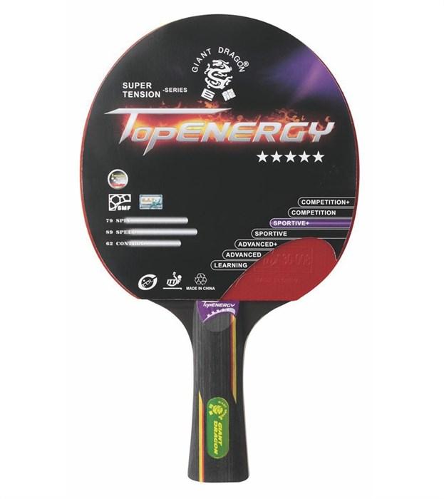 Ракетка для настольного тенниса TopEnerdg 5 звезды - фото 10805