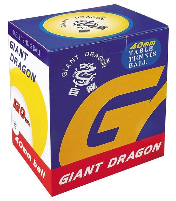 Мячи для настольного тенниса GIANT DRAGON 120 шт желтые - фото 10813