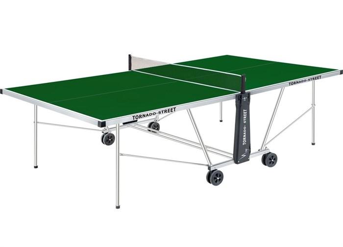 Всепогодный теннисный стол TORNADO-STREET зеленый - фото 10834