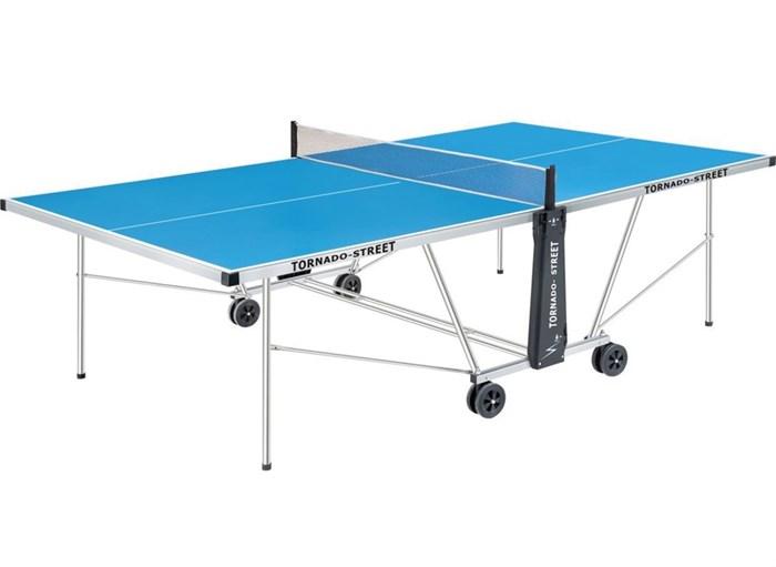Всепогодный теннисный стол TORNADO-STREET синий TOR-ST-1 - фото 10837