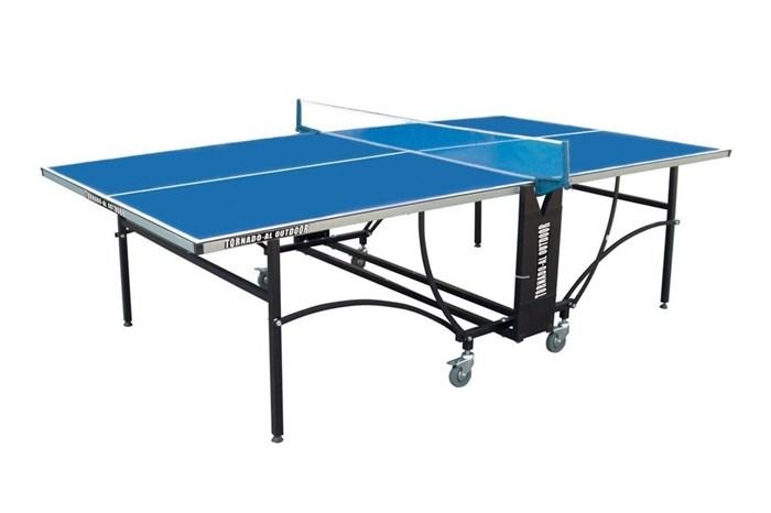 Теннисный стол всепогодный TORNADO - AL- OUTDOOR (синий), с сеткой TOR-AL - фото 10840