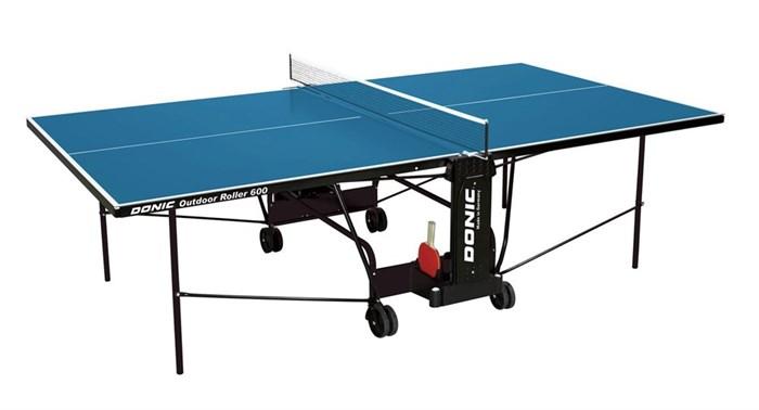 Всепогодный Теннисный стол Donic Outdoor Roller 600 синий - фото 10856