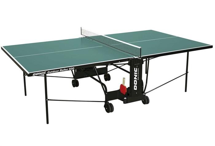 Всепогодный Теннисный стол Donic Outdoor Roller 600 зеленый - фото 10858