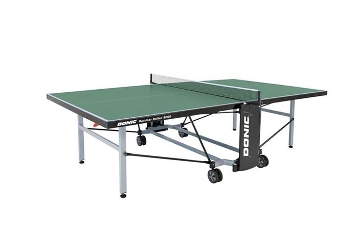 Всепогодный Теннисный стол Donic Outdoor Roller 1000 зеленый - фото 10863
