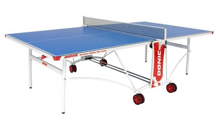 Всепогодный Теннисный стол Donic Outdoor Roller De Luxe синий - фото 10865