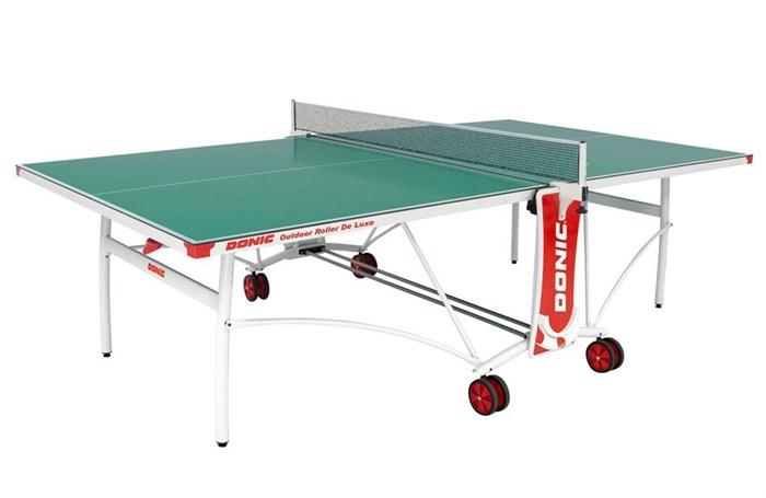 Всепогодный Теннисный стол Donic Outdoor Roller De Luxe зеленый - фото 10868