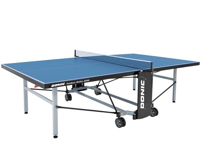 Всепогодный Теннисный стол Donic Outdoor Roller 2000 синий - фото 10872