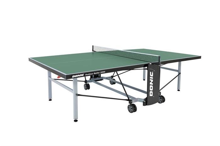 Всепогодный Теннисный стол Donic Outdoor Roller 2000 зеленый - фото 10875