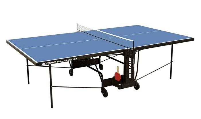 Теннисный стол для помещений Donic Indoor Roller 600 синий - фото 10905
