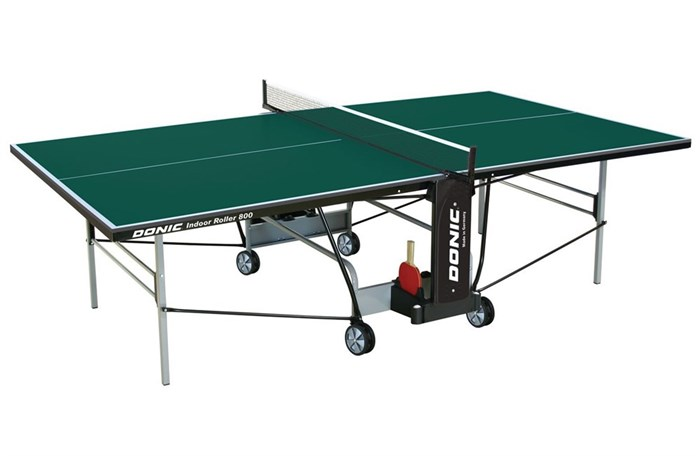 Теннисный стол для помещений Donic Indoor Roller 800 зеленый - фото 10909