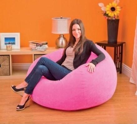 Надувное кресло Intex  68569 (Розовое) - фото 10988