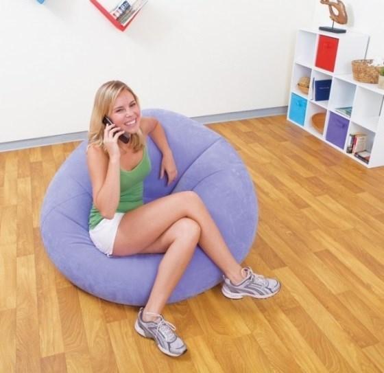 Надувное кресло Intex 68569 (Фиолетовое) - фото 10994