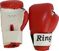 Перчатки боксерские на липучке 10 унц - фото 11498