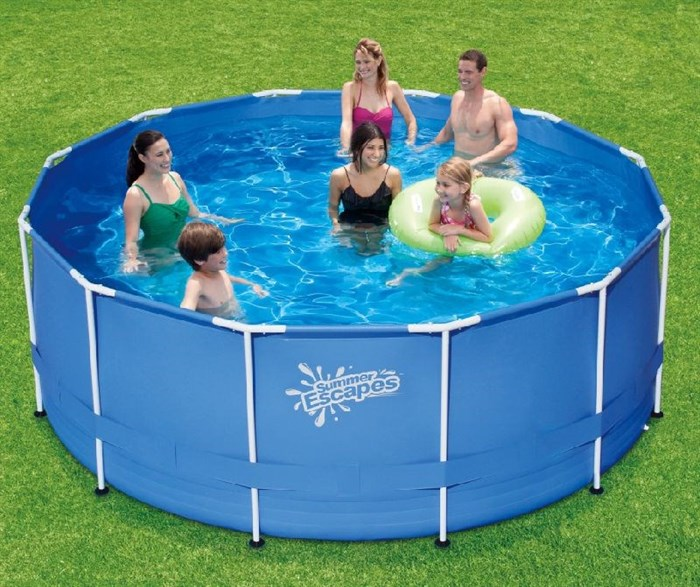 Каркасный бассейн Summer Escapes P20-1248-Z + лестница, тент, подстилка (366х122см) - фото 13824