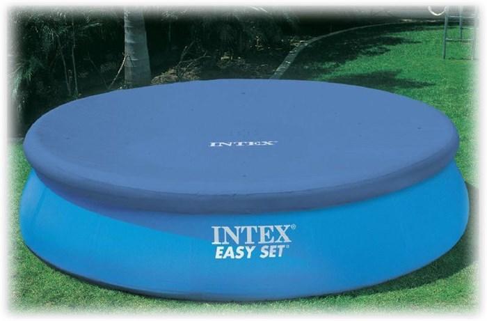 Тент для бассейна с верхним надувным кольцом 305см Intex 28021 - фото 15150