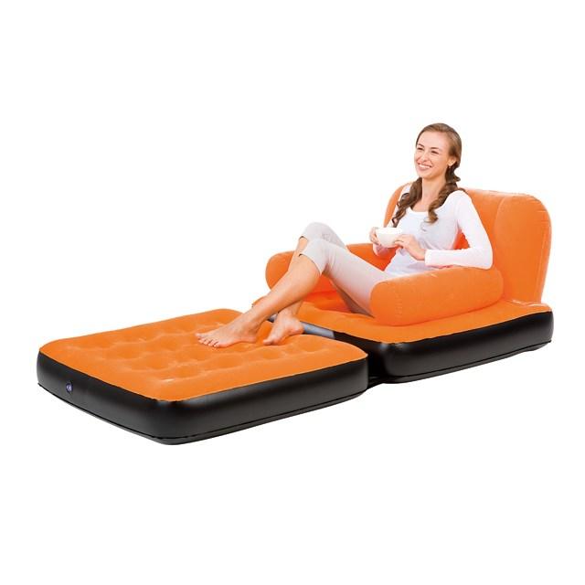 Надувное кресло трансформер Bestway 67277 (оранж) - фото 15355
