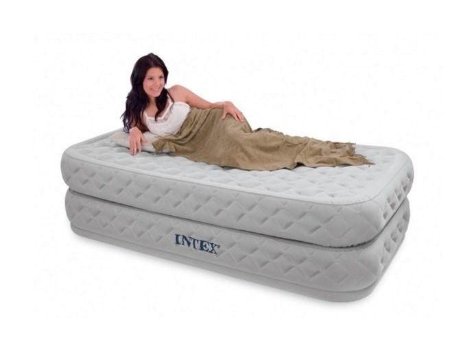 Надувная кровать Intex 66964 односпальная со встр. насосом 220В (99x191x51) - фото 15395