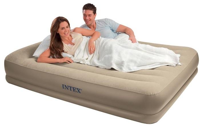 Надувная кровать Intex 67748 двуспальная со встр. насосом 220В (152х203х38) - фото 15435