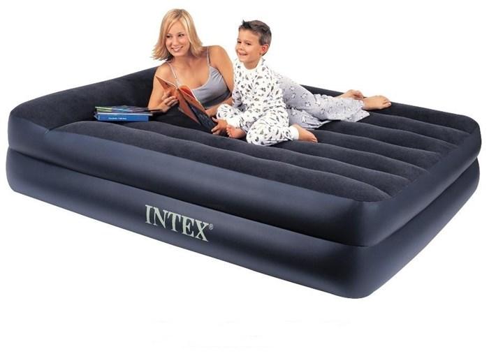 Надувная кровать Intex 66720 двуспальная (без насоса) (157х203х47) - фото 15455
