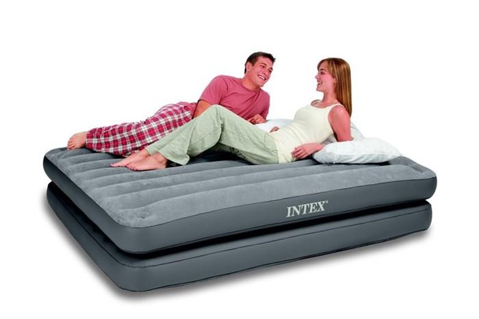 Надувная кровать  Intex 67744 двуспальная 2 в 1 (без насоса) (152х203х46) - фото 15461