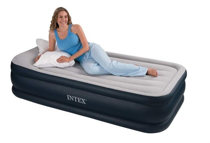 Надувная кровать Intex 67732 односпальная со встр. насосом 220В (99х191х48) - фото 15465