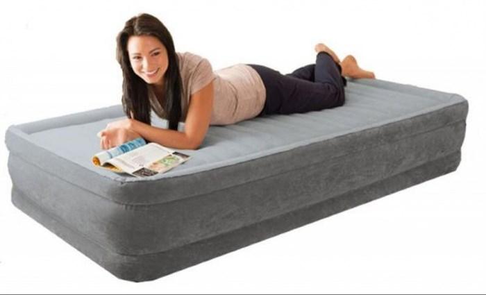 Надувная кровать Intex 64412 односпальная со встр. насосом 220В (99х191х46) - фото 15511