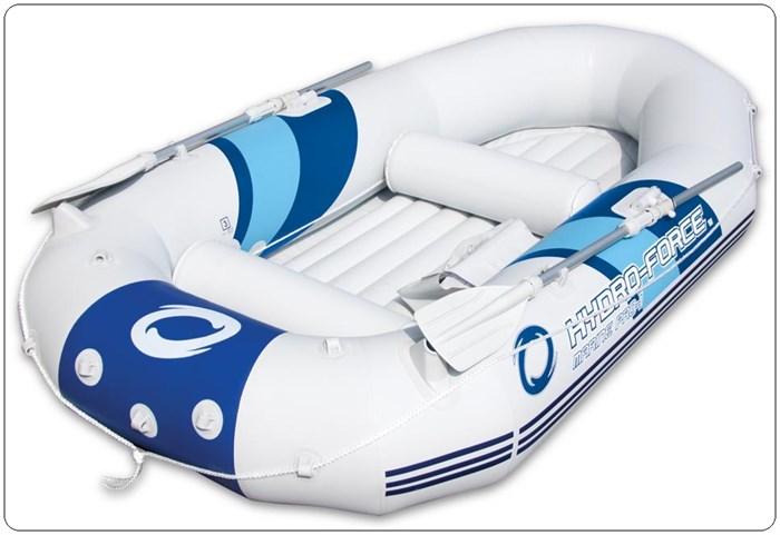 Надувная лодка BestWay 65044 2-х местная Marine Pro + аллюминиевые весла, насос, надувные сиденья - фото 16142