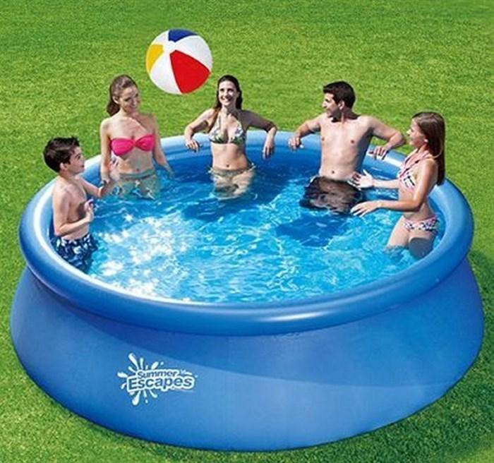 Надувной бассейн Summer Escapes P21-1030 с надувным верхним кольцом (305х76см)