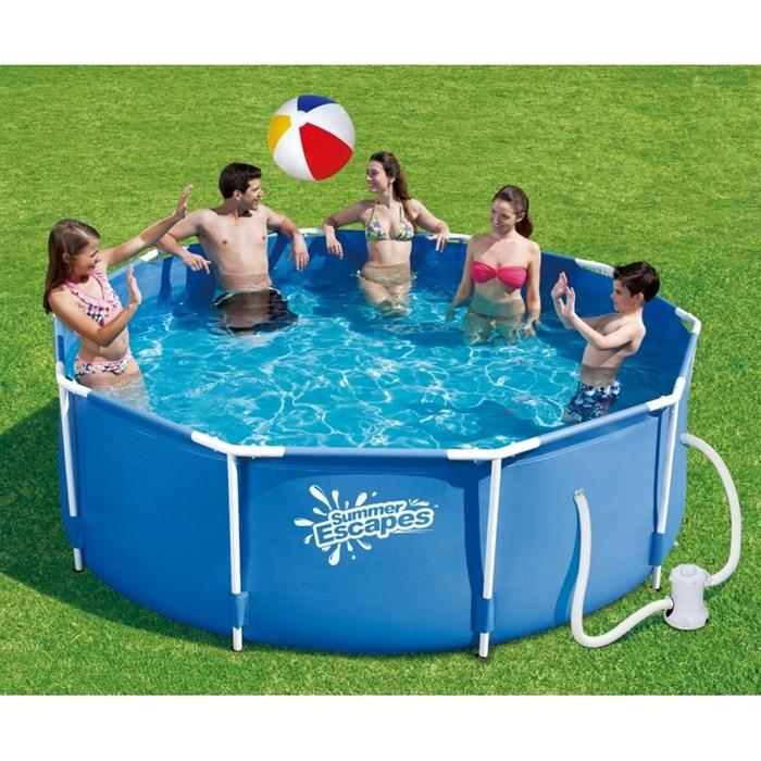 Каркасный бассейн Summer Escapes P20-1042-A + фильтр-насос (305х107см)