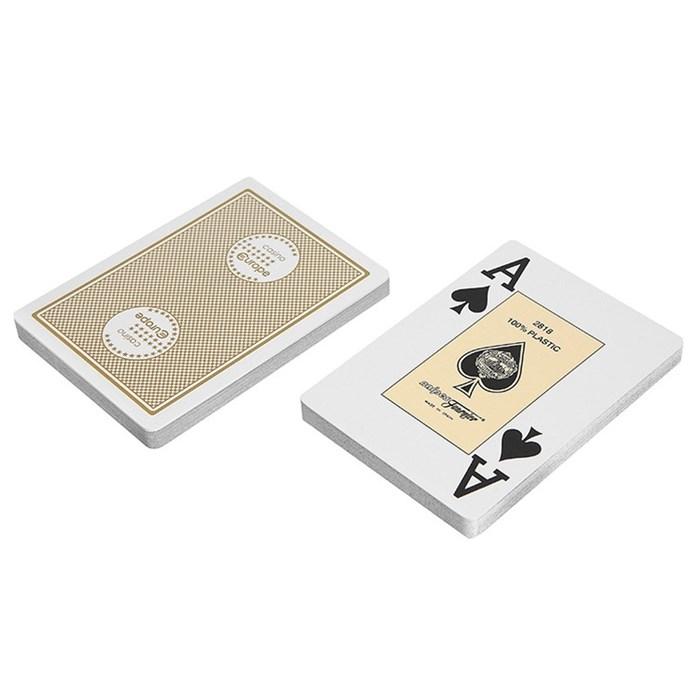 """Карты """"Fournier 2818 Casino Europe"""", 100% пластик, бежевая рубашка - фото 29381"""