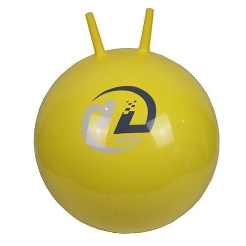 Мяч-попрыгун BB-004-45 с рожками (45см, желтый) - фото 37511
