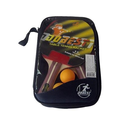 Набор для настольного тенниса DOBEST BB01 2 звезды (2 ракетки + 3 мяча) - фото 37651