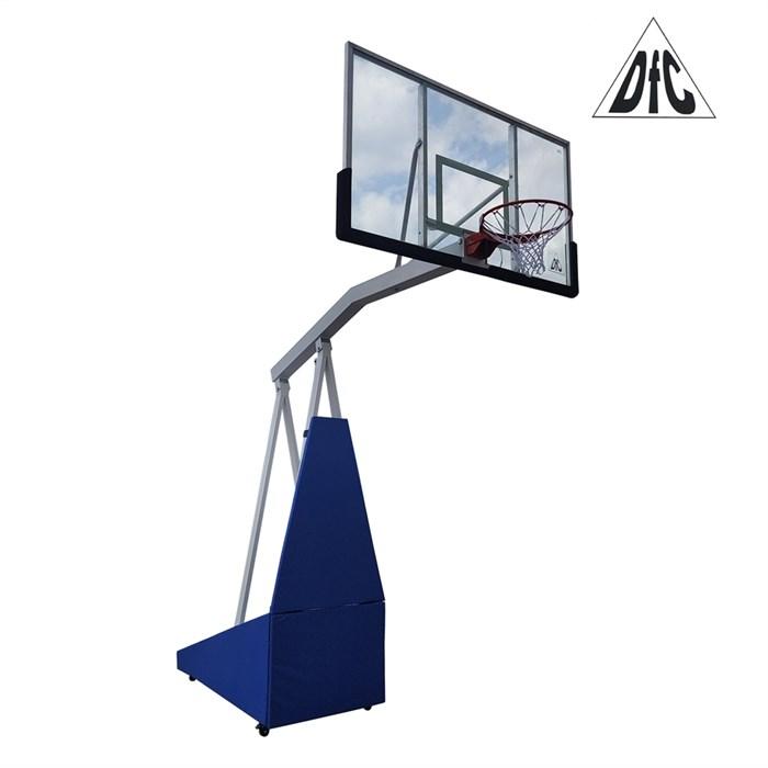 Баскетбольная мобильная стойка DFC STAND72G PRO 180x105см стекло 12мм - фото 39186