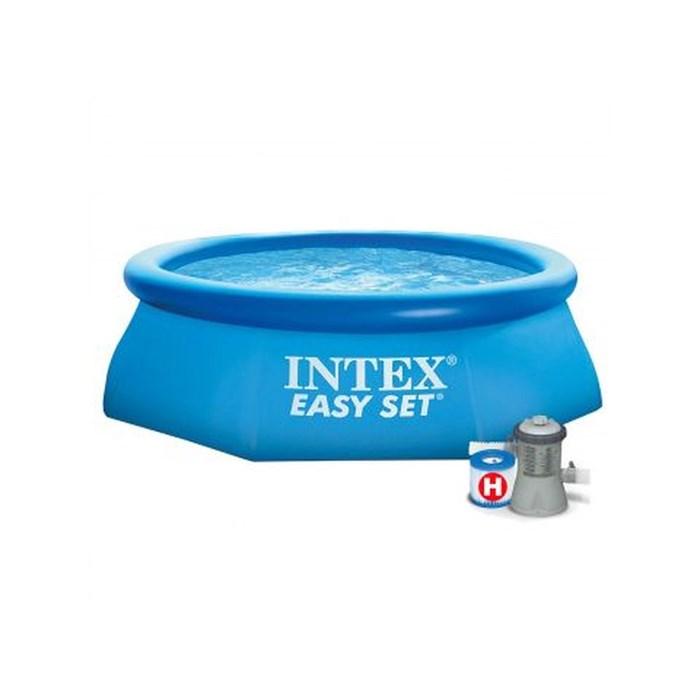 Надувной бассейн Intex 28112-Н с надувным верхним кольцом (244х76см) + фильтр-насос - фото 44736